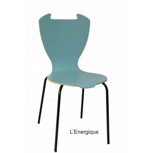 chaise énergique piko édition tsé tsé Made in france écologique bois hêtre bleu gris décoration salon séjour cuisine