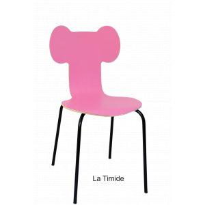 chaise rose enfant design tsé tsé formes coloris amusante bureau séjour cuisine salon indoor outdoor terrace extérieur piko edtion
