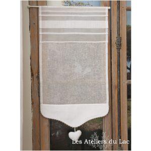 petit rideau fenêtre lin largeurs variables