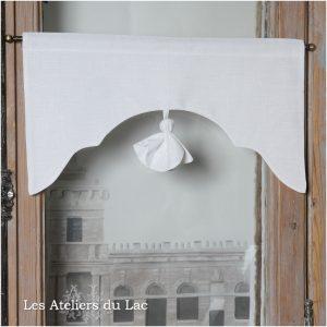 cantonnière lin blanc